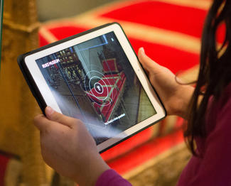 Augmented Masterpieces app on iPad